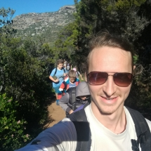 Auf dem Weg nach oben (mein Gastbruder + Scouts im Hintergrund)