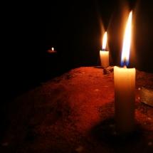 Kerzenschein in der Haupthöhle